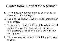 Flowers For Algernon Quotes Beauteous Flowers For Algernon Quotes Bell Work September 48 48 Ppt Download