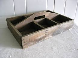 vintage wooden box with brass pull handle view larger