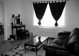 Monochrome Living Room Decorating Decorating Living Room With Black Leather Couch