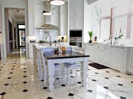 Kitchen Tile Floor Ideas With White Cabinets Stainless Black Kitchen