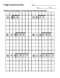 Long Division Worksheets On Graph Paper Magdalene Project Org