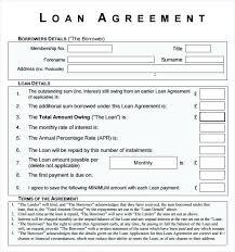 Money Lending Agreement Sample Loan Contract Template Cash