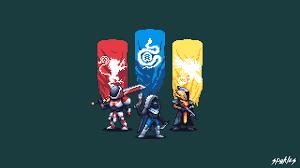 destiny 2 pixel artwork 4k