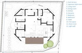 Origami Inspired Japanese House by TSC ArchitectsHoliday Origami   TSC Architects   Mie   Japan   Small House   Floor Plan