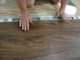 photos of floating vinyl plank flooring installation