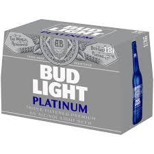 How Much Is A 18 Pack Of Bud Light Bud Light Platinum Beer 18 Pack 12 Fl Oz Bottles