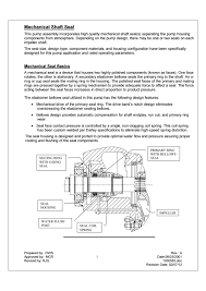Impeller Housing Design Mechanical_seal_instructions Pdf By W S Darley Company