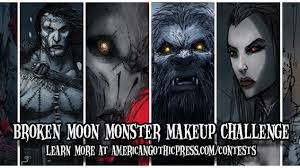 broken moon monster makeup challenge