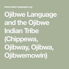 Ojibwe Language And The Ojibwe Indian Tribe Chippewa