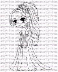 Small Picture Digi Stamp Serenade Pretty Girl Coloring page Big eyed girl