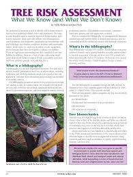 Pdf Tree Risk Assessment What We Know And What We Dont Know