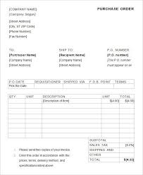 purchase order template microsoft word purchase order template 36 free word excel pdf
