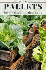 how to make a raised bed using pallets