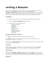 Things To Include In Your Resumes What To Put In A Resume Barraques Org
