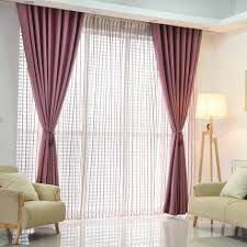 Window Curtain Living Room Aliexpresscom Buy Plain Dyed Blackout Curtain Kitchen Door