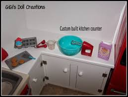 American Made Kitchen Cabinets Gigis Doll And Craft Creations American Girl Doll Kitchen And