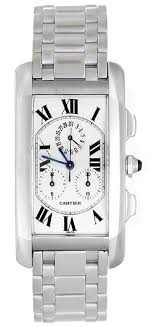 cartier tank americaine chronograph men s ladies 18k white gold cartier tank americaine chronograph men s ladies 18k white gold watch w260334
