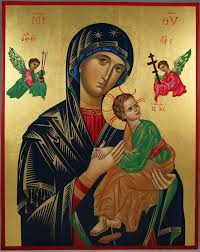 hand painted icon our lady of perpetual help this is a premium