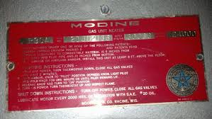a little help a modine unit heater gas valve control please here are some pictures of the id plate and the gas control