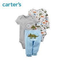 Carters Pants Size Chart 3pcs Dinosaur Print Bodysuits Pants Clothing Sets Carters