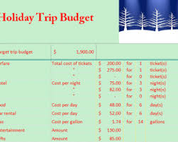 How To Budget For A Trip Holiday Travel Budget My Excel Templates