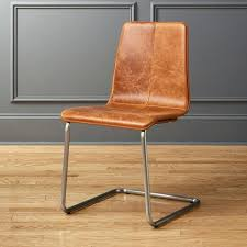 brown leather chair pony dining target
