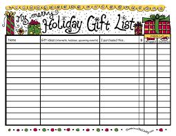 Printable Christmas Gift List Template Epub Descargar 29 Images Of Christmas Gift Shopping List
