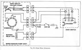 Park Switch And Windshield Wiper Wiring Diagram With Washer Relay Coil In Wiring Diagram Wiper Motor Chevy Trucks Electrical Diagram Windshield