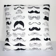 Black On Ivory Illustrated Moustache Print By MissCherriesBoutique. £9.99  GBP, Via Etsy.