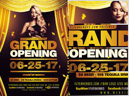 bar grand opening flyer grand opening flyer template flyerheroes