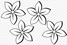 black and white flower clip art simple flowers