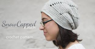 Crochet Patterns Hats Mesmerizing Snowcapped Slouchy Crochet Pattern Little Monkeys Crochet