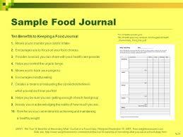 Sample Food Logs Week 8 Food Diary Sample Week 8 Food Diary Sample