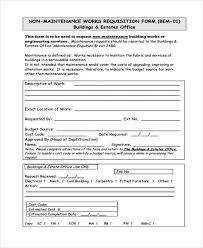 Maintenance Work Order Form Inspiration 48 Requisition Form In PDF