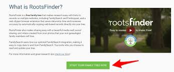 Making A Family Tree For Free Rootsfinder Review Free Family Tree Offers Powerful Tools