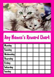 Cute Pink Kittens Star Sticker Reward Chart