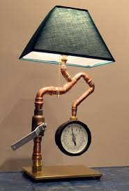 etsy industrial lighting. Cool Steampunk Industrial Lamp By ElecGuitarBuilder On Etsy, $225.00. Cool, BUT...the Lampshade Is Wrong. Should Look Like A Shower Curtain, Lol! Etsy Lighting