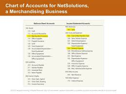 sample chart of accounts for merchandising business warren reeve duchac accounting 26e accounting for
