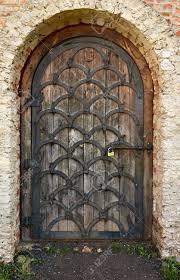 Traditional Wooden Wrought Iron Door, Ukraine Dubno Carpathian Stock ...