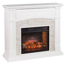 salski infrared electric fireplace white