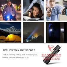 Chính hãng] Bộ đèn pin siêu sáng mini pin sạc điện usb bóng led có zoom  chống nước cầm tay chuyên dụng chính hãng