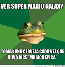 VER SUPER MARIO GALAXY... - Frog Meme Generator Captionator via Relatably.com