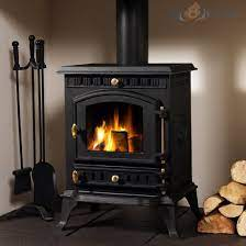 closing the door on a wood burning stove