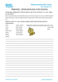 Shipwrecked - Writing Instructions to Give Directions - TMK Education