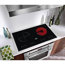 Bếp điện từ hồng ngoại đôi cảm ứng Kaff KF-073IC+Tặng Máy hút mùi nhà bếp  cổ điển Kaff - Bếp điện kết hợp