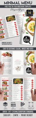 Menu Flyer Template Free PSD Brochure For Minimal Menu By ElegantFlyer 5