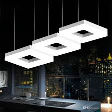 led square arcrylic pendant lamps office study room commercial lighting dining room kitchen bar modern led lamp indoor lighting pendant lights for kitchens