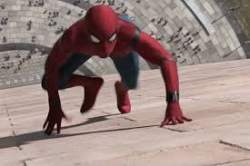 spider man homeing takes swing at