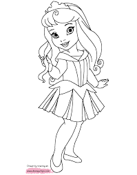 Disney princesses, a walt disney creation, features 11 princesses namely snow white, cinderella, aurora, jasmine, merida, pocahontas, ariel, belle, mulan, tiana and rapunzel. Disney S Little Princesses Coloring Pages Disneyclips Com