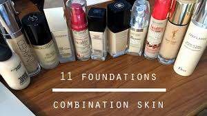 11 best foundations for bination oily dry acne e skin swatches